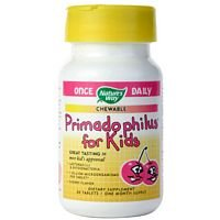 (Natures Way Primadophilus Kids Cherry Chewable Tablet - 30 per Pack - 6 Packs per)