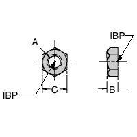 CL-6-JN Carr Lane Manufacturing Jam Nut: Thread Size 3/8-16