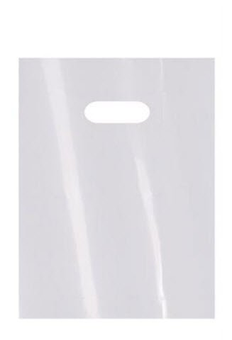 Bulk White Low Density Merchandise Bags 9x12in