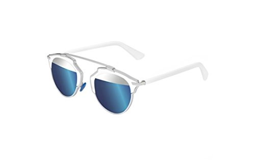Dior So Real - I187R Sunglasses Silver Blue Mirrored Lenses - Sunglasses Dior
