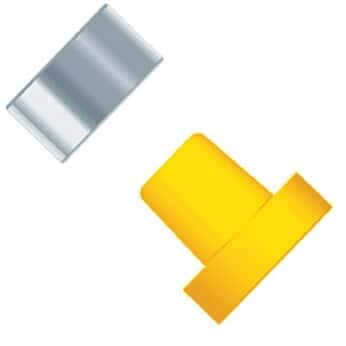 1//4-28 or M6 Flat Bottom; 10//PK Yellow ETFE//SS Ring 1//16 OD Tubing Idex P-259X Super Flangeless Ferrule