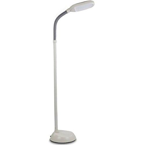 Brightech – Litespan LED Reading & Crafting Floor Lamp – Dimmable Full Spectrum LED Light – Fully Adjustable Neck – 12 Watts – Alpine White
