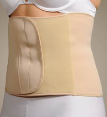 "Q-T Intimates Women's Waist Nipper Belly Control Band 9"" - High Waist Shapewear - Nude Beige, Large"