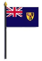 Turks & Caicos Islands Flag Rayon On Staff 4 in. x 6 in.