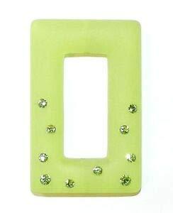 Steven_store APL278 Peridot Swarovski Crystal & Light Green Resin 39mm Rectangle Donut Bead Making Beading Beaded Necklaces Yoga Bracelets