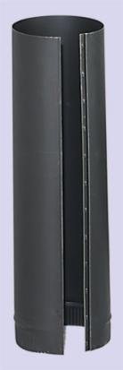 Inc. 6-24-600 6 Inch x 24 Inch 24-ga Snap-Lock Black Stovepipe by Chimney (24ga Pipe)