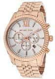 Michael Kors MK8313 Men's Lexington Chronograph Rose-Tone Stainless Steel Silver-Tone Dial