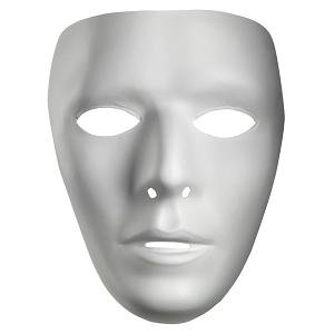 Male Blank No Face Plastic Mask]()