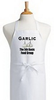 Blazers Proforms Costumes - Funny Cooking Apron Garlic The 5th Basic Food Group Cute Kitchen (Funny Work Group Costumes)