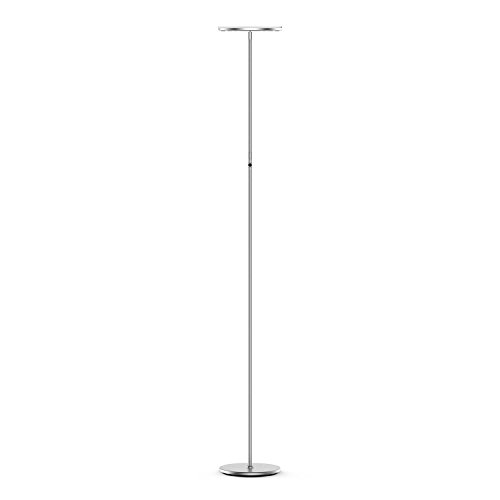 Vacnite LED Torchiere Floor Lamp, Smart-Touch-Dimming, 71-Inch, 3500 lumens,36-Watt, Warm White for Bedroom Living Room Office - Simple Streamlining Silver (Silver)