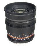 Bower SLY16VDS Wide Angle High-Speed 16mm T/2.2 Cine Lens for Sony/Minolta Video SLR Cameras (Black)