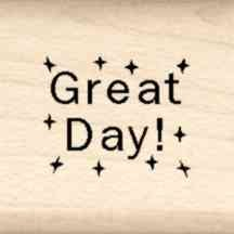 Stamps by Impression LT 13 Great Day Rubber Stamp