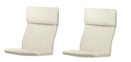 2 x IKEA Cushions for Poang Armchair - Ransta Natural (Set of 2) - (CUSHIONS ONLY)