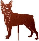 (Haute Steel Boston Terrier Metal Dog Stake)