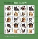 Pane Commemorative (Pane of 20 Commemorative Stamps; 2010 Animal Rescue 44 cents by USPS)