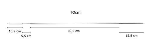 Edelstahl Drehspie/ß Universal 920mm mit Halterung f/ür Napoleon LE