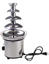 4 Tiers Commercial Luxury Hot Electric Chocolate Cheese Fondue Fountain Perfect For Party Wedding Restaurant Hotel Made With Stainless Steel Material