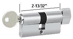 CRL Polished Stainless Keyed Alike Cylinder Lock with Thumbturn (Stainless Thumbturn Cylinder)