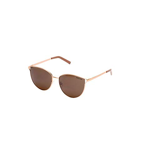 - Kenneth Cole Reaction Glossy Oversized Cat Eye Sunglasses in Rose Gold