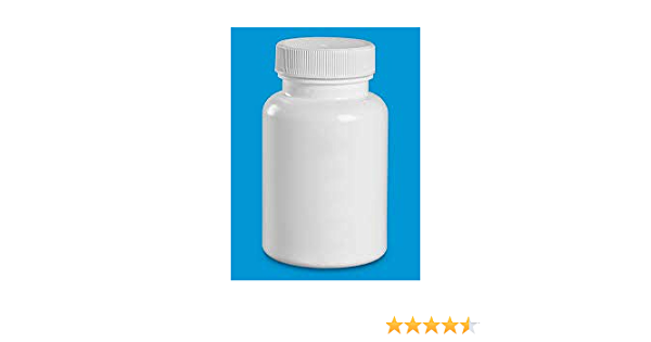 38-400 Neck 12 Pack Pharmaceutical Grade 150cc White HDPE S-Packer Wide Mouth Round Plastic Bottle