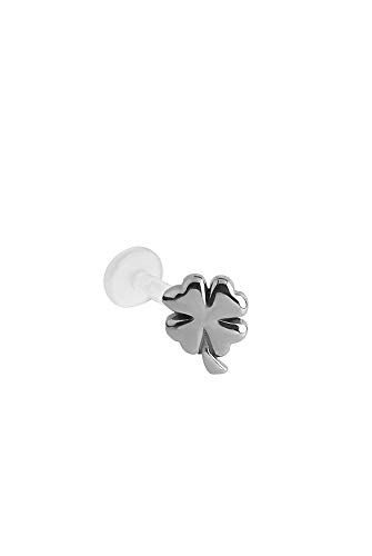 - Bioflex Labret Nose Ring Stud 316L Surgical Steel 1/4