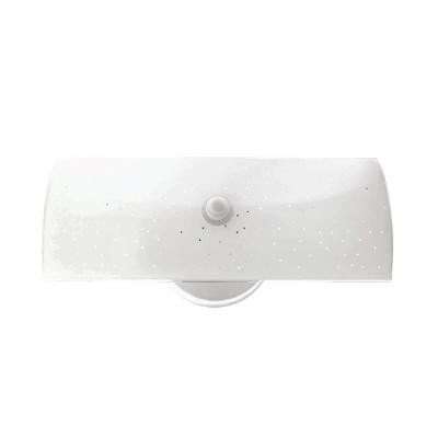 Sunlite B12 12-Inch 2-Bulb Rectangle Bathroom Wall Fixture, White Finish with White Glass