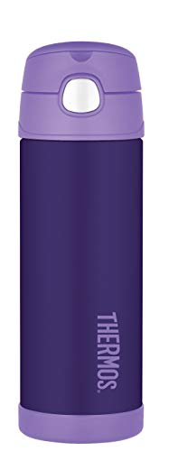 Thermos Funtainer 16 Ounce Bottle, Purple (Thermos Straw Water Bottle)