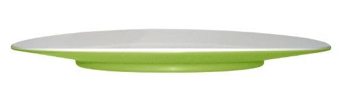 (Mebel EB12-M02MV-GRE Oblong Salad Plate in 2-Tone, Outside Green Inside White)