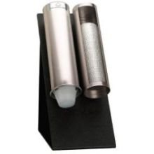Dispense Rite Black Polystyrene Countertop Stand Only, 15 x 7 1/2 x 11 1/4 inch -- 2 per case.