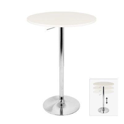 LumiSource Elia Adjustable Bar Table Top Finish: White