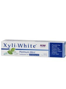 NOW Foods Solutions Xyli White Toothpaste Gel with Baking Soda Platinum Mint -- 6.4 (Platinum Mint Toothpaste)