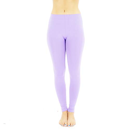 e1a0cfada33 TD Collections Womens High Waisted Footless Style Leggings - Super Soft  Pants - Full Length Solid