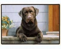 Fiddlers Lab Elbow Chocolate - Fiddler's Elbow Chocolate Lab Porch Doormat
