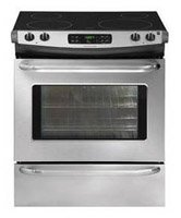 Frigidaire FFES3025PS ADA Compliant 30'' Slide-In Electric Range featuring Large Capacity SpaceWise Expandable Elements Ready-Select Controls and Power Cleaning: Stainless