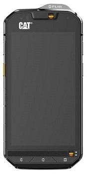 bolsa del cinturón / funda para Cat S60, negro + Auriculares | caja del teléfono cubierta protectora bolso - K-S-Trade (TM)
