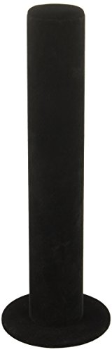 SE JD1825B Black Velvet Bracelet Holder with Pillar Shape