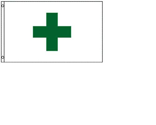 Green Cross Flag 3'x5' Medical Marijuana Banner