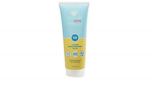Aloe Up Kids Sport Sunscreen SPF 50 6oz Lotion - Aloe 50%