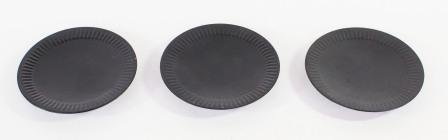 Hosley Set of 6 Black Iron Pillar Plates - 4'' Diameter. Ideal Gift for Wedding, Special Occasion, and for a Candle Holder or as a Pedestal O5 by Hosley