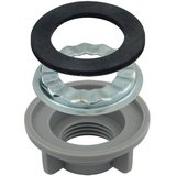 Lincoln Products 1/2 in. Plastic Locknut And Rosette, Pack of 10