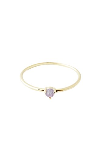 HONEYCAT Purple Amethyst Crystal Point in 24k Gold Plate | Minimalist, Delicate Jewelry (Gold 6) (100 Gem Soles Gold)