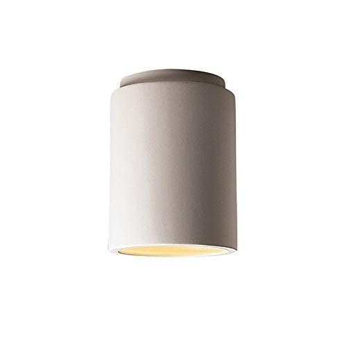 Justice Design Group Lighting CER-6100-BIS Justice Design Group-Radiance Collection-Cylinder Flush-Mount-Bisque Finish, ()