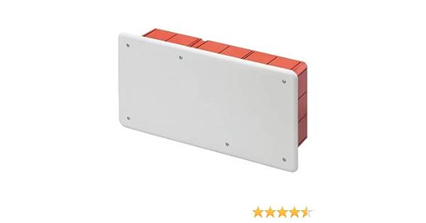 Gewiss Caja de derivaci/ón y conexi/ón para paredes de mamposter/ía con gu/ía DIN Dimensiones 294x152x75 Tapa blanca RAL 9016 GW48007
