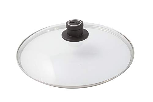 - Woll Tempered Glass with Stainless Steel Rim & Vented Knob Round Lid, 11 3/4