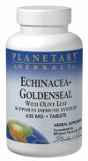 Echinacea-Goldenseal w/Olive Leaf Planetary Herbals 30 Tabs ()