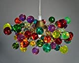 Cheap Colorful Bubbles Pendant Light – Handmade Hanging Lights – Ceiling Light for Kids Bedroom, Living Room – Unique Decorations for Home & Kitchen – Cool Gift Ideas