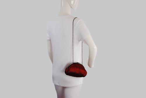 Olga Berg - Cartera de mano para mujer rojo rosso talla única