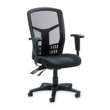Lorell : Executive High-Back Chair,Mesh Fabric,28-1/2