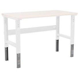 Height Industrial Adjustable Workbench (Height Adjustable Leg Extender Kit - 35-1/2