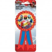 Amscan Power Rangers Dino Charge Confetti Filled Award Ribbon (1 Piece), Red/Blue (Power Rangers Outfit)